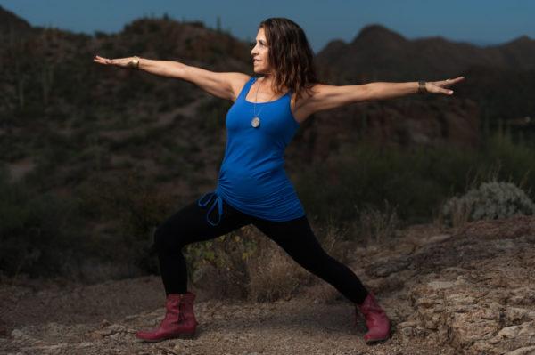 Maria Warrior II Posture by Jade Beal